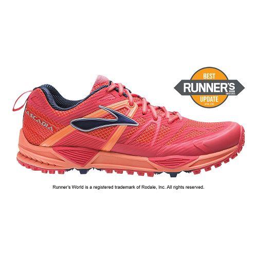 Womens Brooks Cascadia 10 Trail Running Shoe - Berry 6.5
