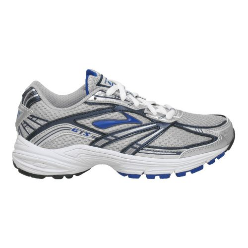 Kids Brooks Adrenaline GTS Running Shoe - Grey/Royal 3.5