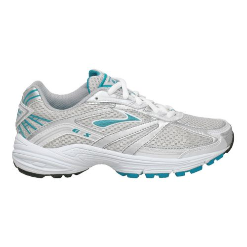 Kids Brooks Adrenaline GTS Running Shoe - White/Turquoise 1.5