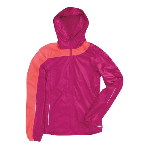 Womens Brooks LSD Lite III Running Jackets - Fuschia/Poppy M