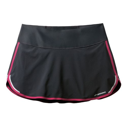 Womens Brooks Infiniti Skort Fitness Skirts - Black/Jam Berry L