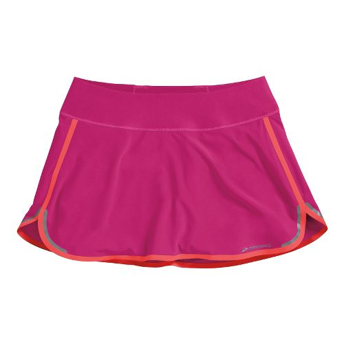 Womens Brooks Infiniti Skort Fitness Skirts - Fuschia/Poppy S