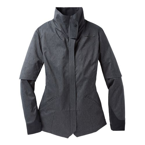 Womens Brooks PureProject Shelter Running Jackets - Charcoal M
