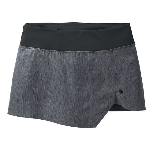 Womens Brooks PureProject Reflective Skort Fitness Skirts - Charcoal L
