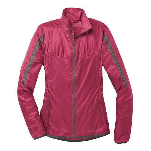 Womens Brooks LSD Lite IV Running Jackets - Jam Berry M