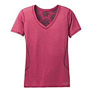 Womens Brooks Versatile Printed III Short Sleeve Technical Tops