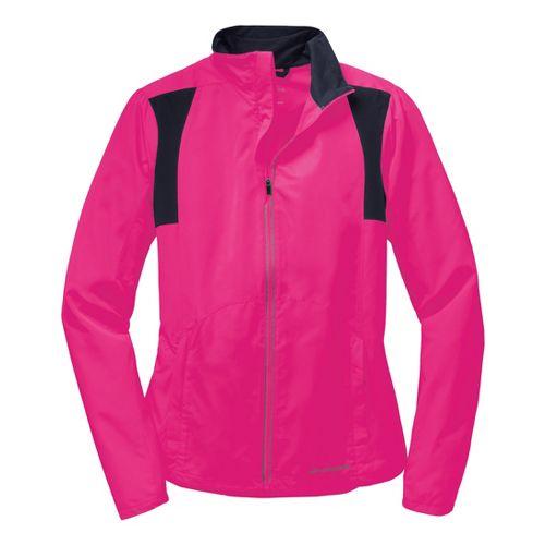 Womens Brooks Nightlife Essential III Running Jackets - Bright Pink L