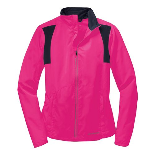 Womens Brooks Nightlife Essential III Running Jackets - Bright Pink S