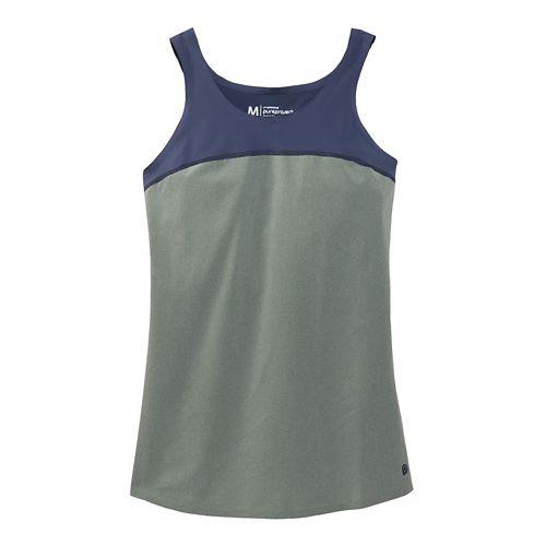 Womens Brooks Pureproject Sleeveless II Tanks Technical Top - Sage/Midnight Blue XS