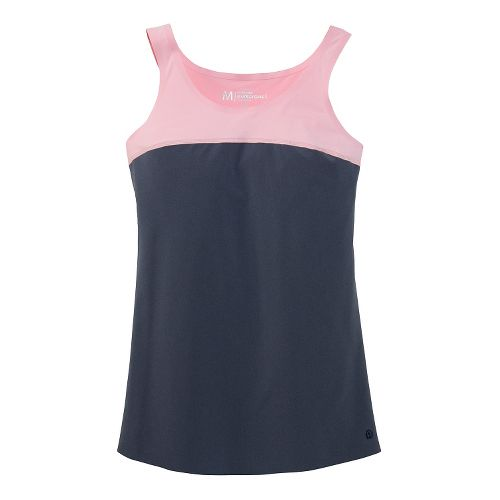 Womens Brooks Pureproject Sleeveless II Tanks Technical Top - Midnight Blue/Petal Pink M