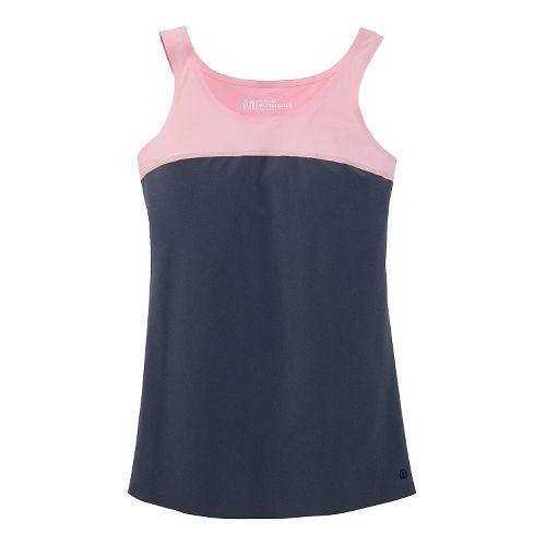 Womens Brooks Pureproject Sleeveless II Tanks Technical Top - Midnight Blue/Petal Pink XL