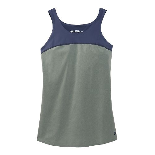Womens Brooks Pureproject Sleeveless II Tanks Technical Top - Sage/Midnight Blue M