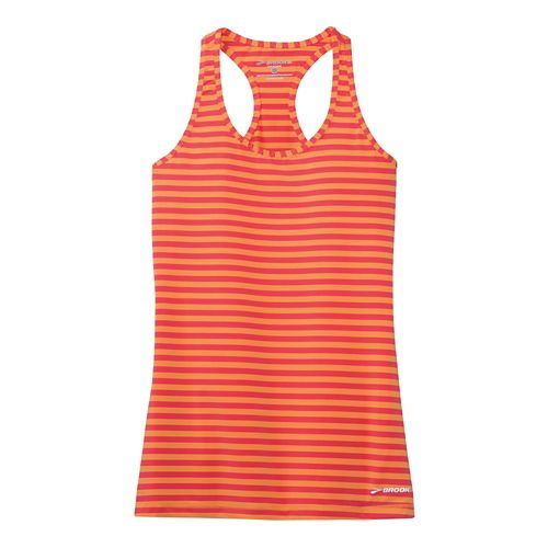 Womens Brooks Bring It Racerback Tanks Technical Top - Orange Crush XS