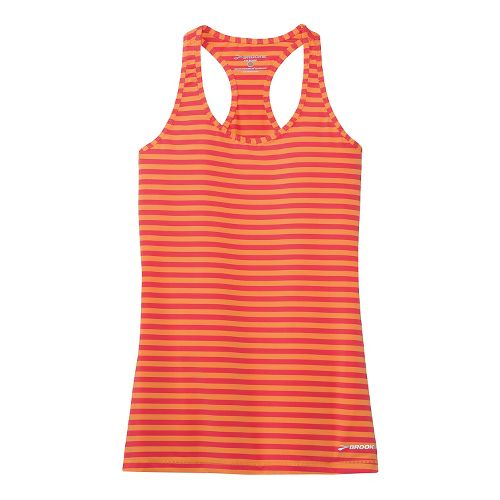 Womens Brooks Bring It Racerback Tanks Technical Top - Orange Crush M
