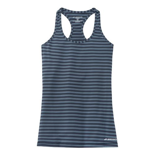 Womens Brooks Bring It Racerback Tanks Technical Top - Storm S