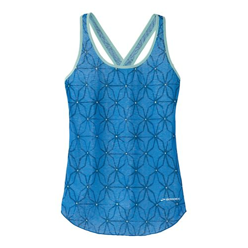 Womens Brooks Versatile Lite Tanks Technical Top - Cornflower Glass S