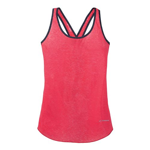 Womens Brooks Versatile Lite Tanks Technical Top - Flamingo/Midnight XS