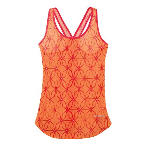 Womens Brooks Versatile Lite Tanks Technical Top - Orange Crush L
