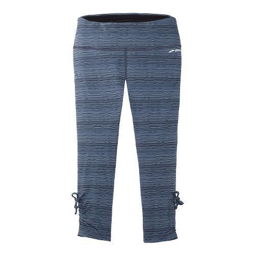 Womens Brooks Urban Run Capri Tights - Midnight Blue M