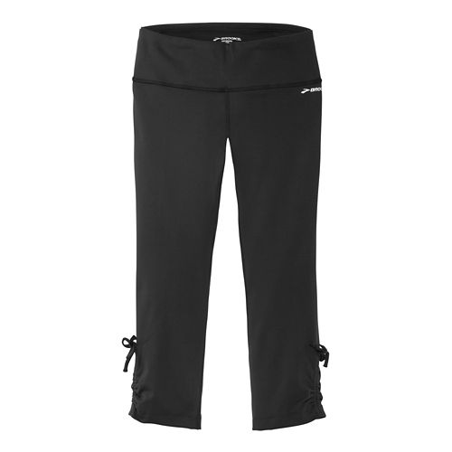 Womens Brooks Urban Run Capri Tights - Black S