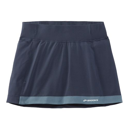 Womens Brooks Versatile Skort Fitness Skirts - Midnight Blue S