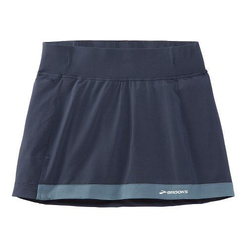 Womens Brooks Versatile Skort Fitness Skirts - Midnight Blue XL