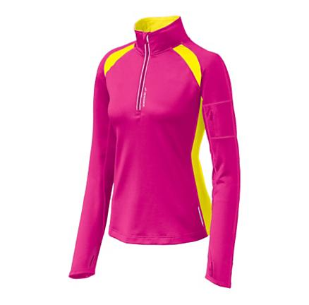 Womens Brooks Nightlife Infiniti Long Sleeve 1/2 Zip Technical Tops