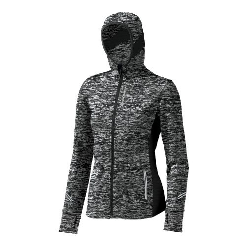 Womens Brooks Utopia Thermal Hoodie II Warm-Up Hooded Jackets - Charcoal M
