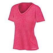 Womens Brooks Versatile EZ V-Neck Short Sleeve Technical Tops