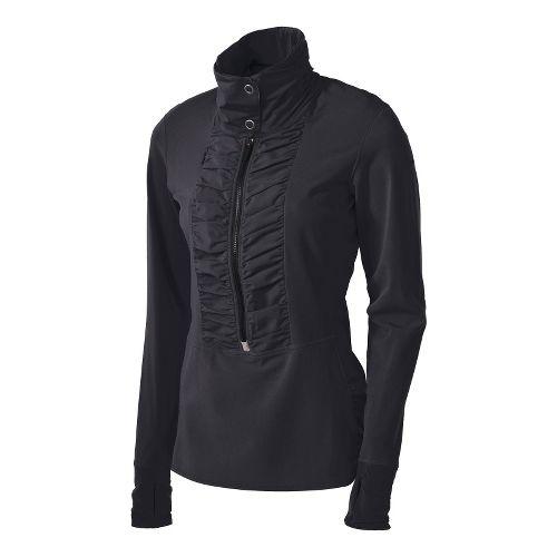Womens Brooks Infiniti Anorak Long Sleeve 1/2 Zip Technical Tops - Black M