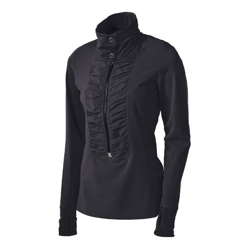 Womens Brooks Infiniti Anorak Long Sleeve 1/2 Zip Technical Tops - Black S