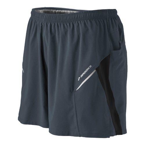 Mens Brooks Sherpa III Lined Shorts - Asphalt L