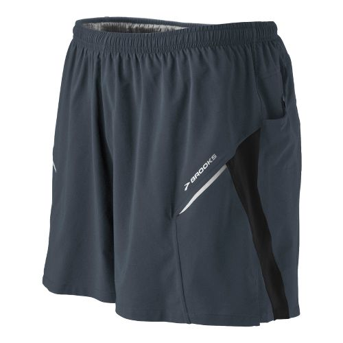 Mens Brooks Sherpa III Lined Shorts - Asphalt M