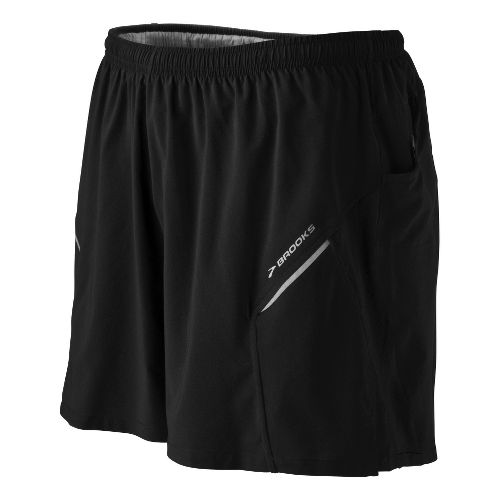 Mens Brooks Sherpa III Lined Shorts - Black M