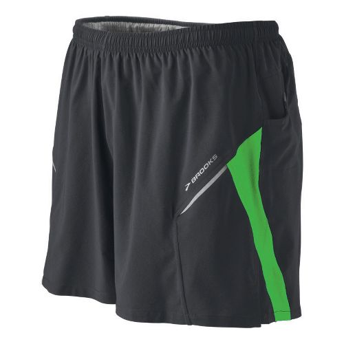 Mens Brooks Sherpa III Lined Shorts - Dark Grey/Green M