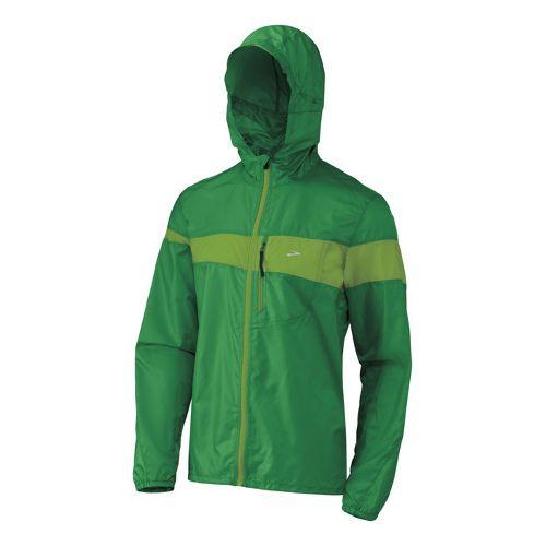 Mens Brooks L.S.D. Lite III Running Jackets - Green M