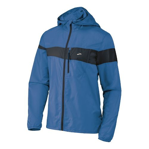 Mens Brooks L.S.D. Lite III Running Jackets - Starlight Blue/Midnight L