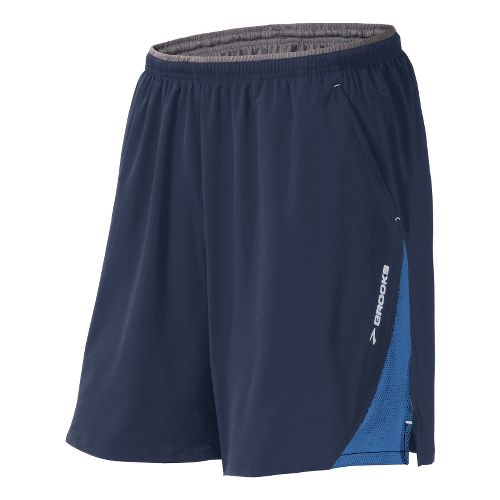 Mens Brooks Rogue Runner III Lined Shorts - Midnight/Starlight Blue S