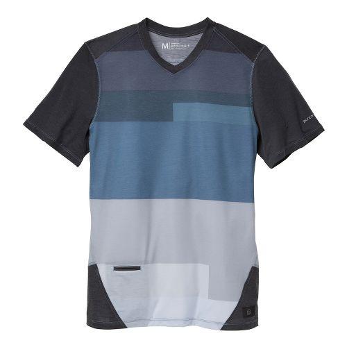 Mens Brooks PureProject Short Sleeve Technical Tops - Charcoal/Print L