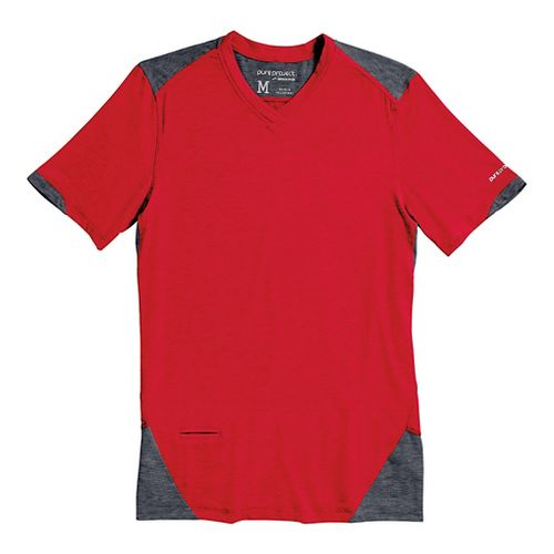 Mens Brooks PureProject Short Sleeve Technical Top - High Risk Red/Anthracite XS