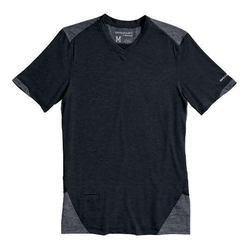 Mens Brooks PureProject Short Sleeve Technical Top - Midnight L