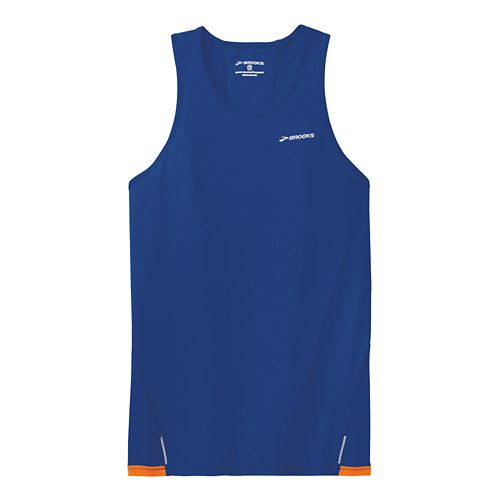 Mens Brooks Rev Singlet III Technical Top - Indigo L