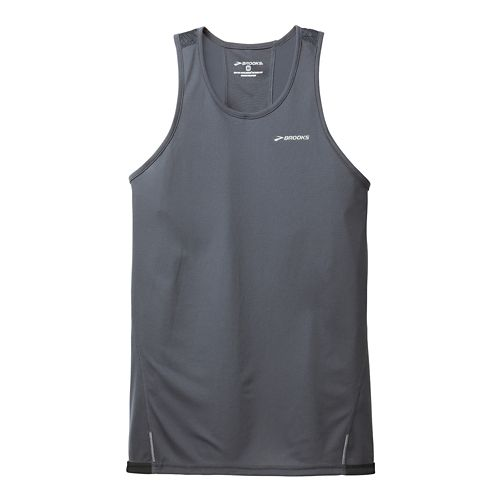 Mens Brooks Rev Singlet III Technical Top - Anthracite XXL