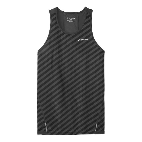 Mens Brooks Rev Singlet III Technical Top - Black/Asphalt XL