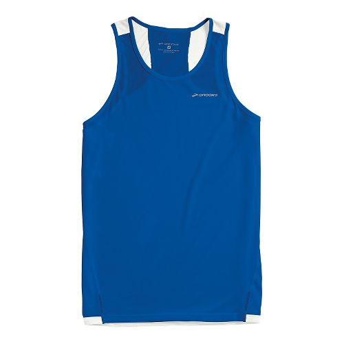 Mens Brooks Rev Singlet III Sleeveless Technical Tops - Electric Blue XL