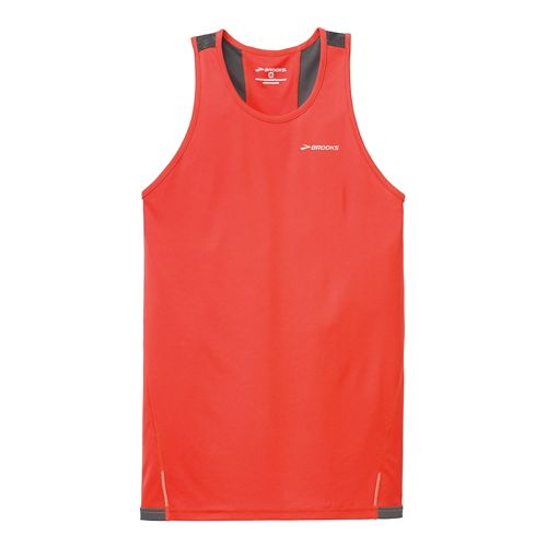 Mens Brooks Rev Singlet III Technical Top - Mars/Anthracite L
