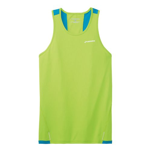 Mens Brooks Rev Singlet III Technical Top - Lime Green XS