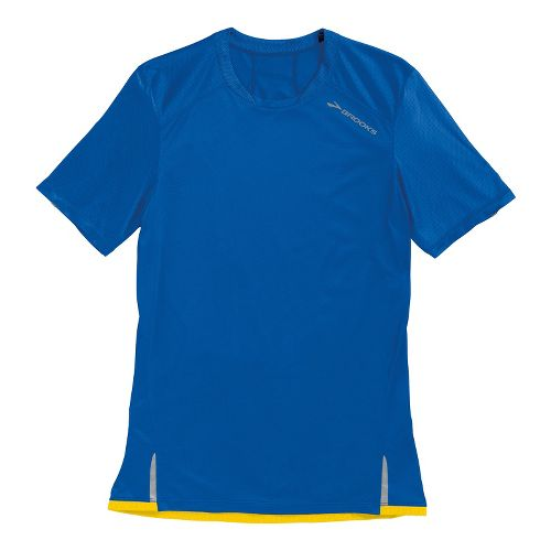 Mens Brooks Infiniti Short Sleeve Technical Tops - Electric Blue L