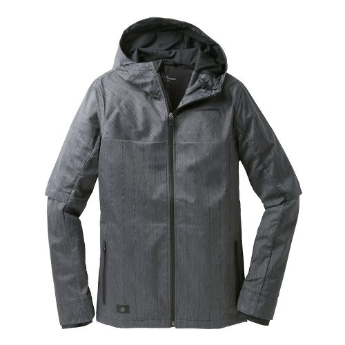 Mens Brooks PureProject Thermal Warm-Up Hooded Jackets - Charcoal S