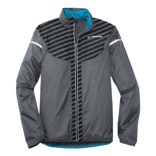 Mens Brooks LSD Lite IV Running Jackets - Asphalt/Black L